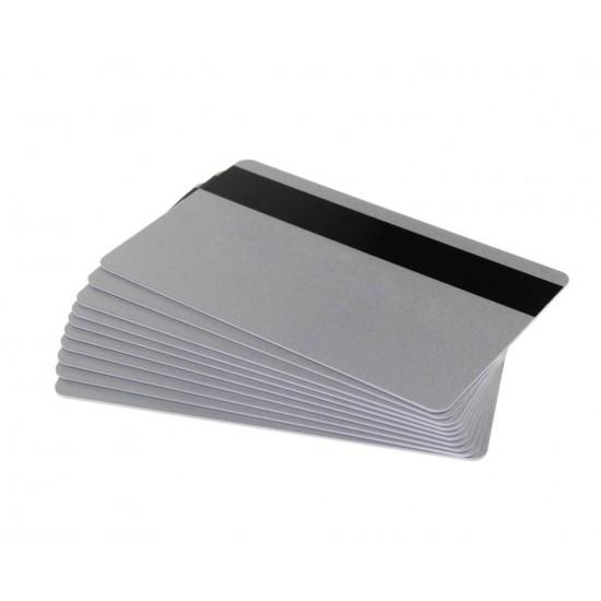 Card magnetic PVC Hi-Co, CR80, argintiu