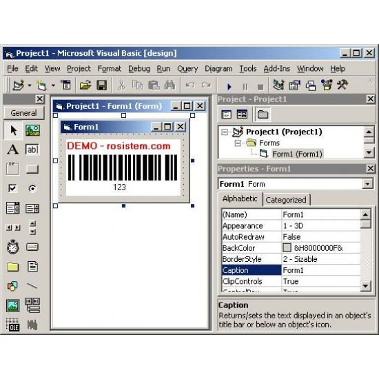 Rosistem Barcode ActiveX