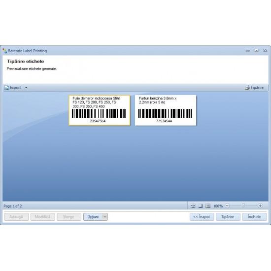 Rosistem Barcode Label Printing - Software pentru design si tiparire etichete