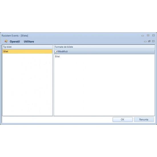Rosistem Events - Software pentru generare, imprimare si gestionare bilete
