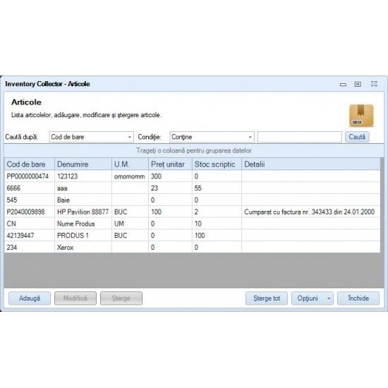Rosistem Inventory Collector - Software de inventariere pentru cititoare de coduri de bare