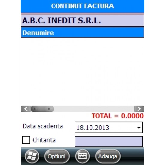 Rosistem Mobile Invoicing - Software pentru facturare mobila pentru terminal mobil